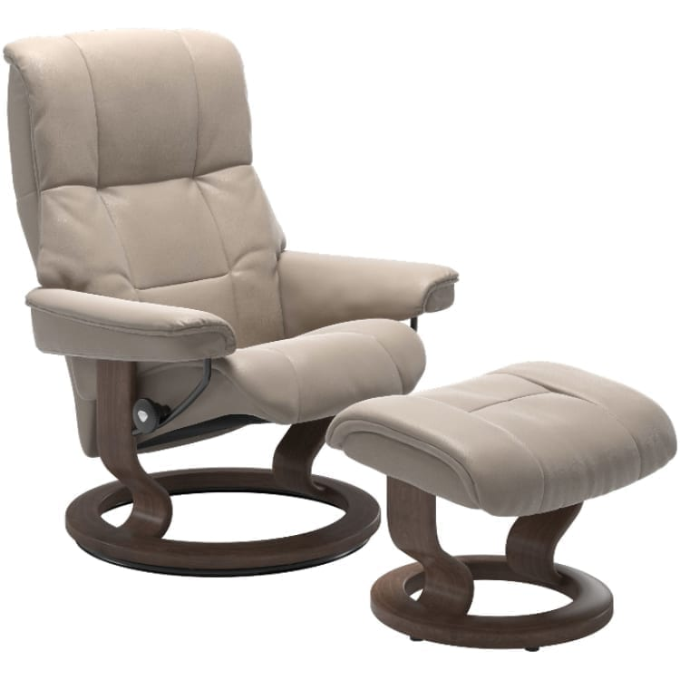 (product) Stressless Mayfair Classic Recliner & Ottoman