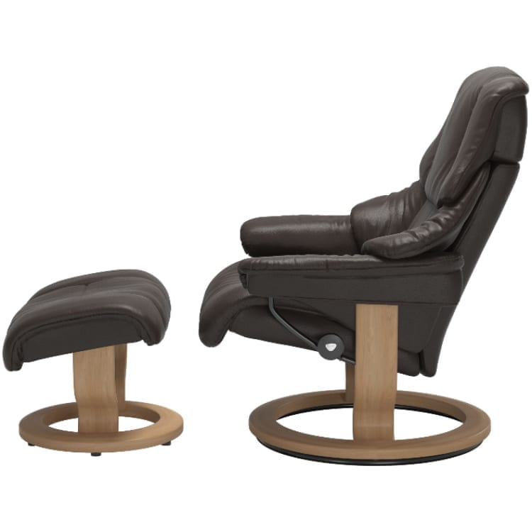 (product) Stressless Reno Classic Recliner & Ottoman