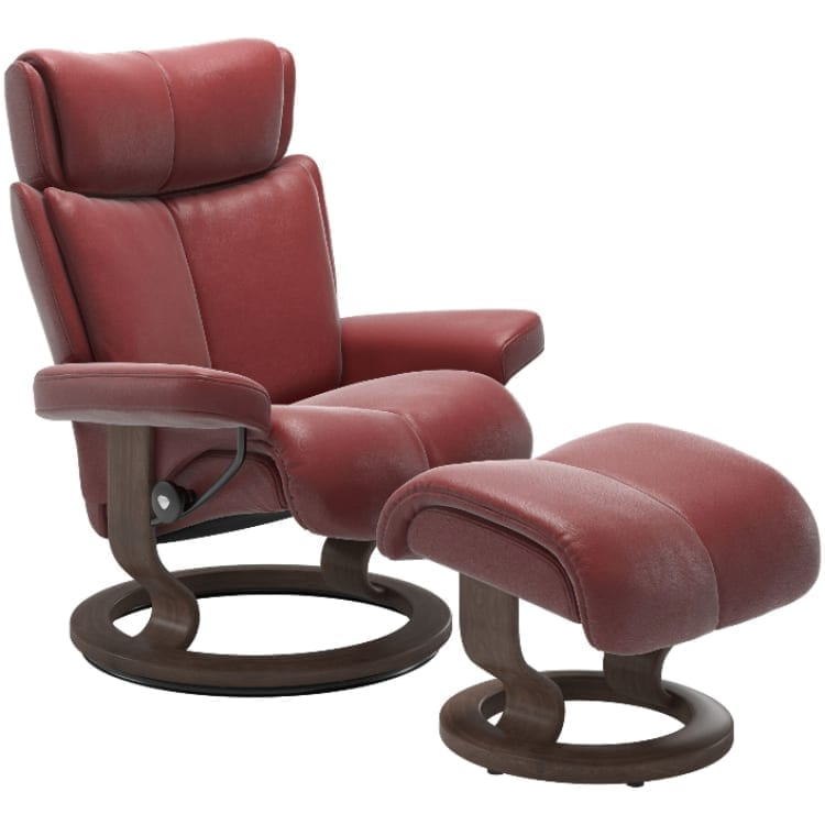 (product) Stressless Magic Classic Recliner & Ottoman