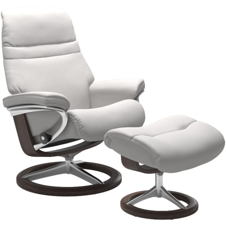 (product) Stressless Sunrise Signature Recliner & Ottoman