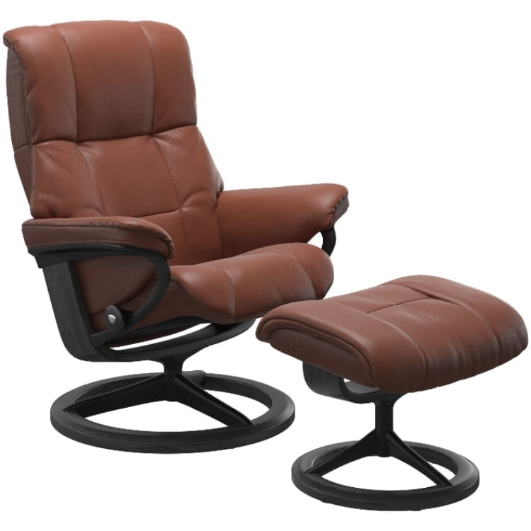 (product) Stressless Mayfair Signature Recliner & Ottoman