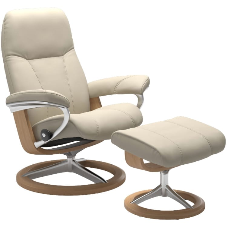 (product) Stressless Consul Signature Recliner & Ottoman