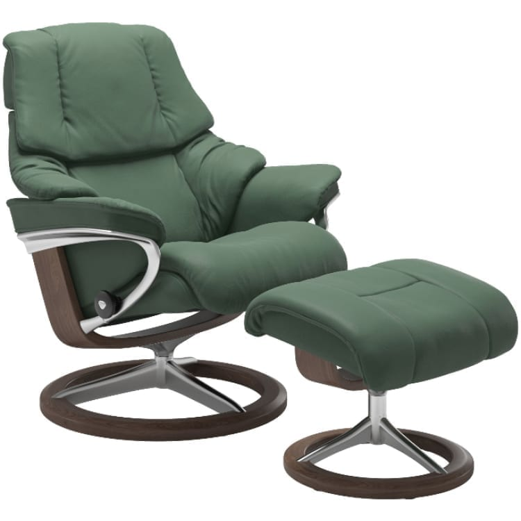 (product) Stressless Reno Signature Recliner & Ottoman