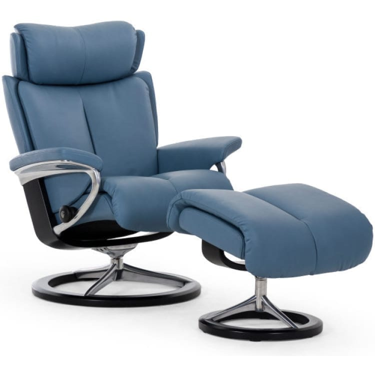 (product) Stressless Magic Signature Recliner & Ottoman