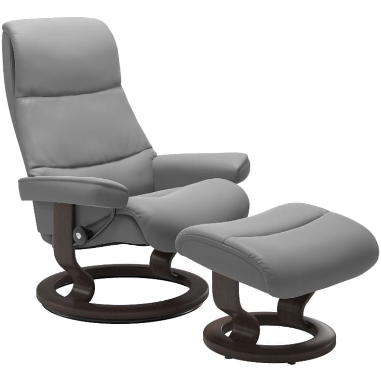 (product) Stressless View Classic Recliner & Ottoman