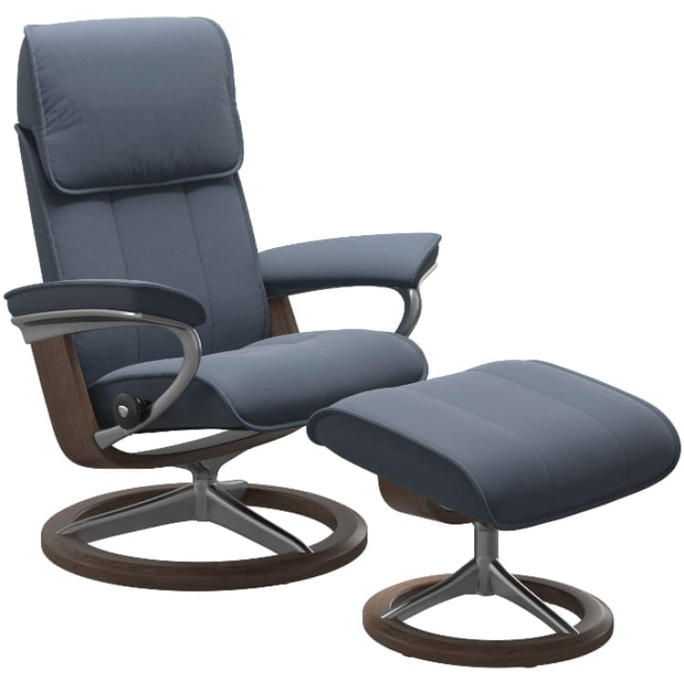 (product) Stressless Admiral Signature Recliner & Ottoman
