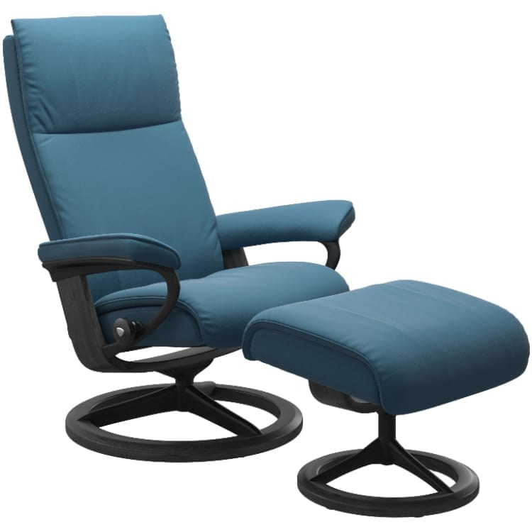 (product) Stressless Aura Signature Recliner & Ottoman