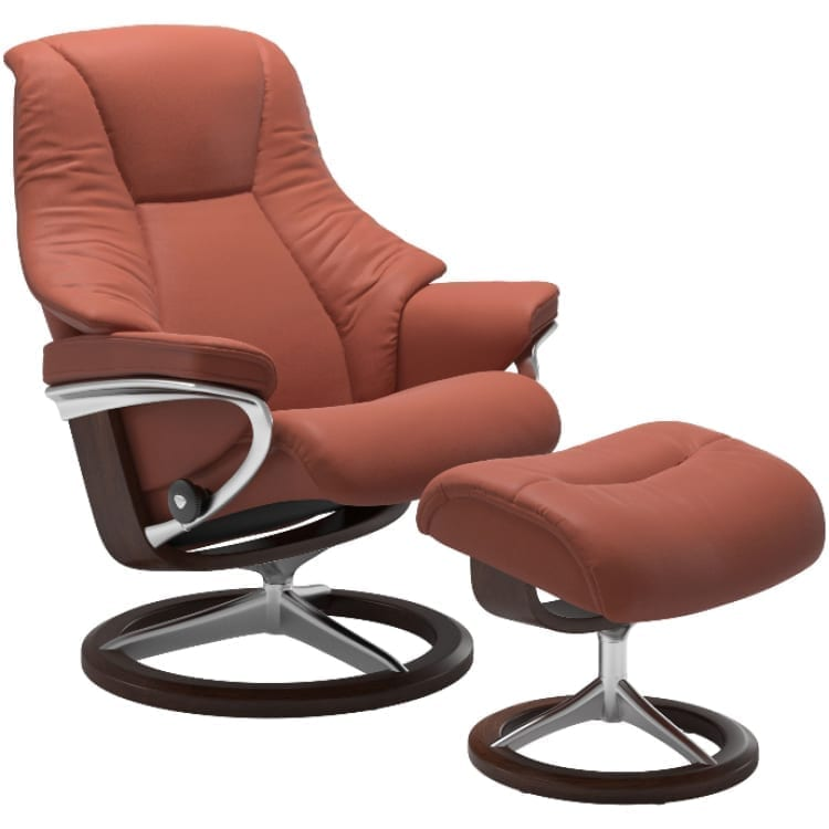 (product) Stressless Live Signature Recliner & Ottoman